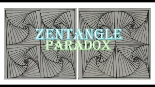 How To Draw Complex Zentangle Paradox Design For Beginners, Doodle Art Tutorial Drawing Step by Step
