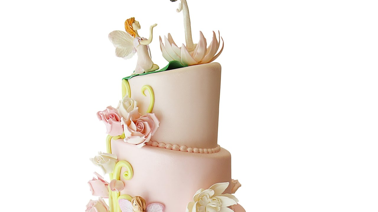 Pink Ombre Fairy Birthday Cake Youtube