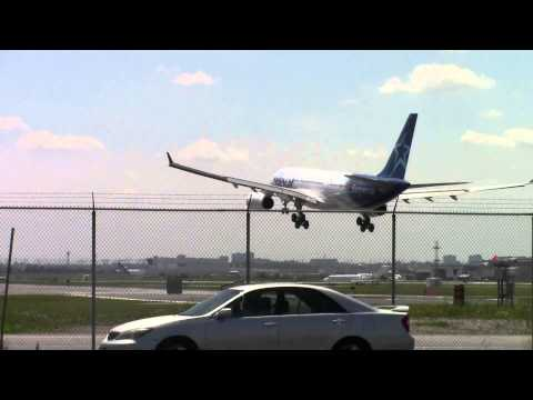 """Air Transat A330-200 """"The Azores Glider"""" [C-GITS] landing in Toronto on RWY 23"""