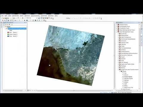 arcgis reproject raster