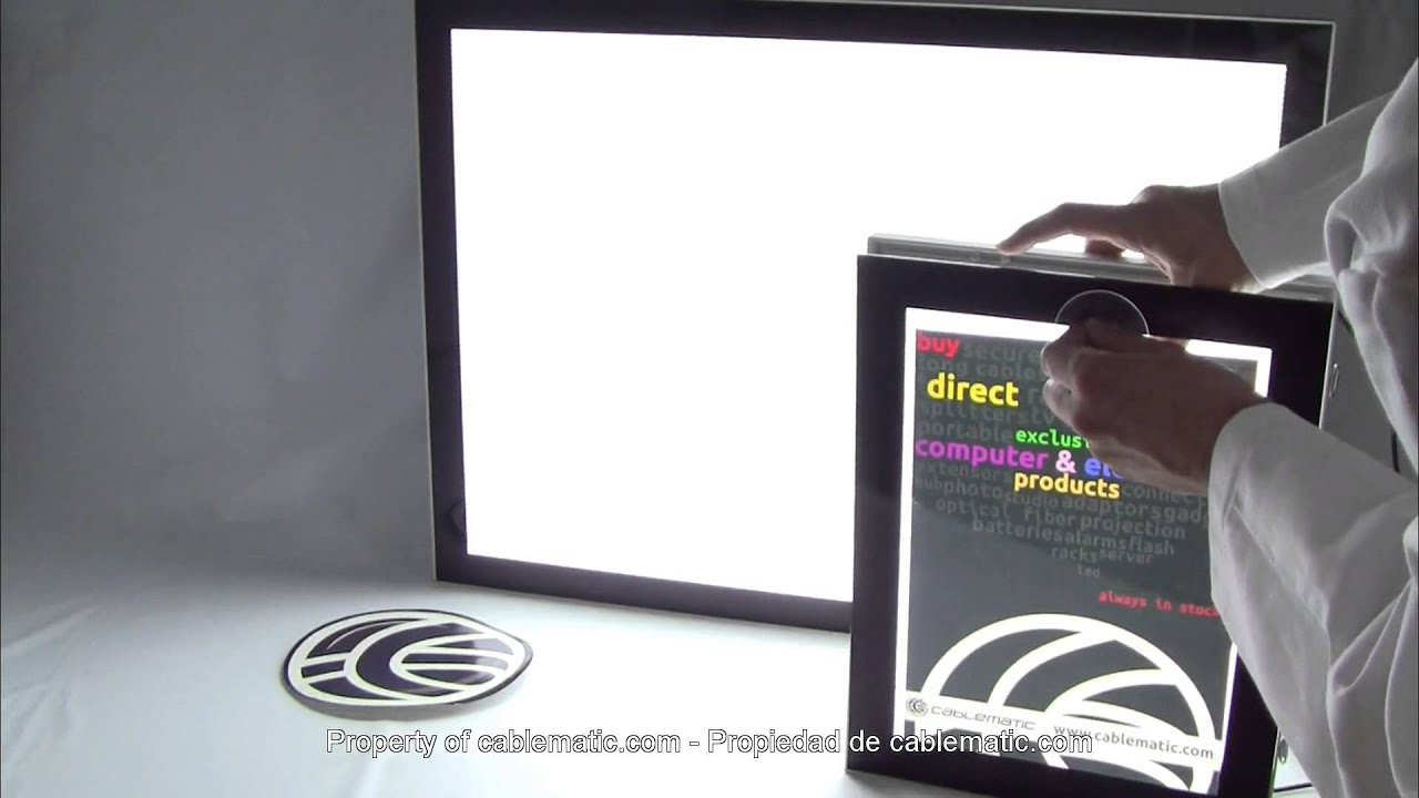 Cartel retroiluminado DisplayMatic® distribuido por CABLEMATIC ...