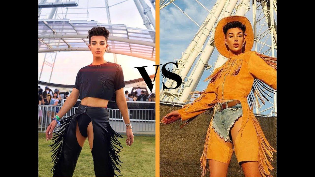 James Charles Coachella Outfits 2018 vs 2019