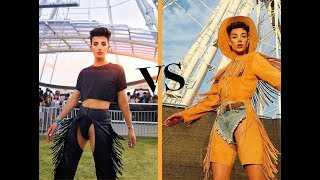 James Charles Coachella Outfits 2018 vs 2019