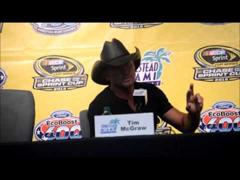 Tim McGraw at Homestead-Miami Speedway