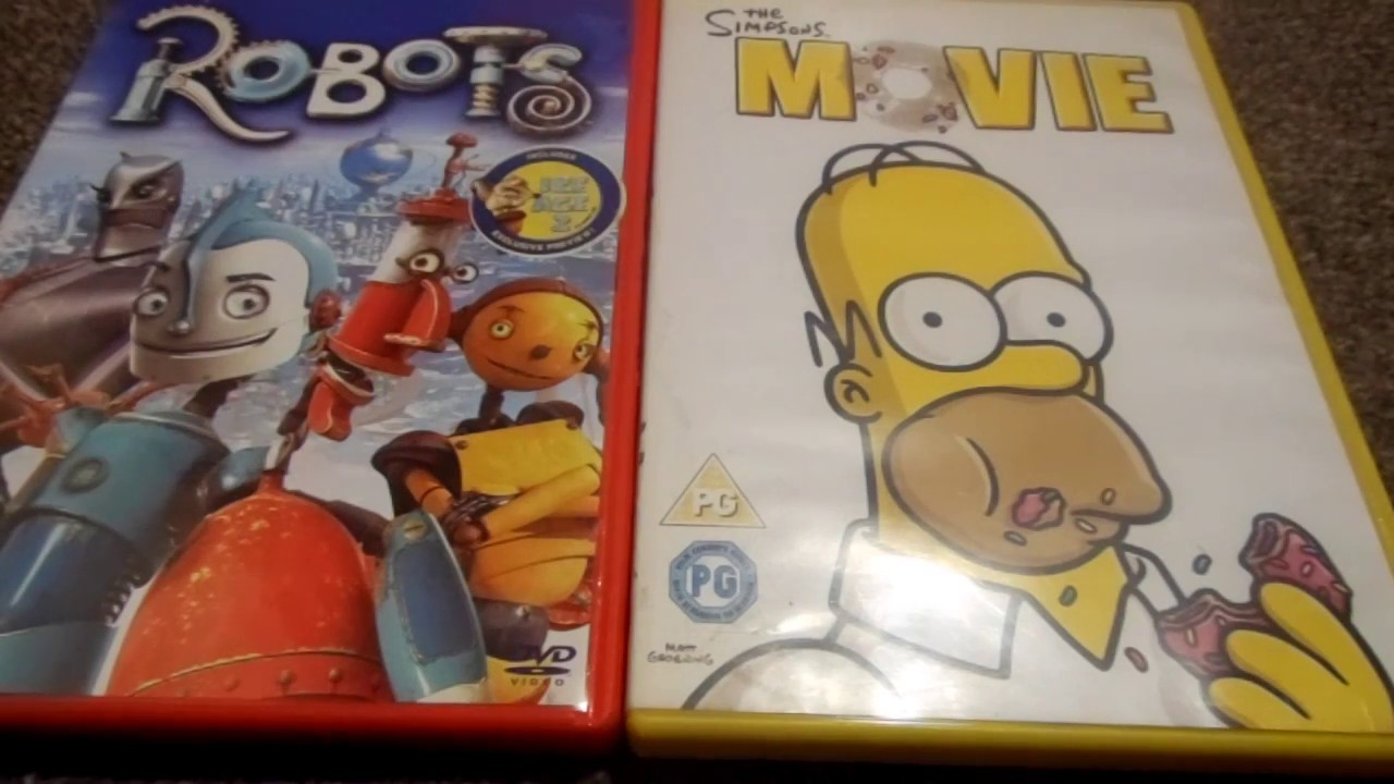 Robots And The Simpsons Movie Uk Dvd Unboxing Youtube