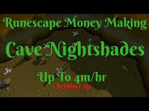 Up to 4m/hr+ Herblore xp-Semi-AFK-High Level Money Making-Cave Nightshades