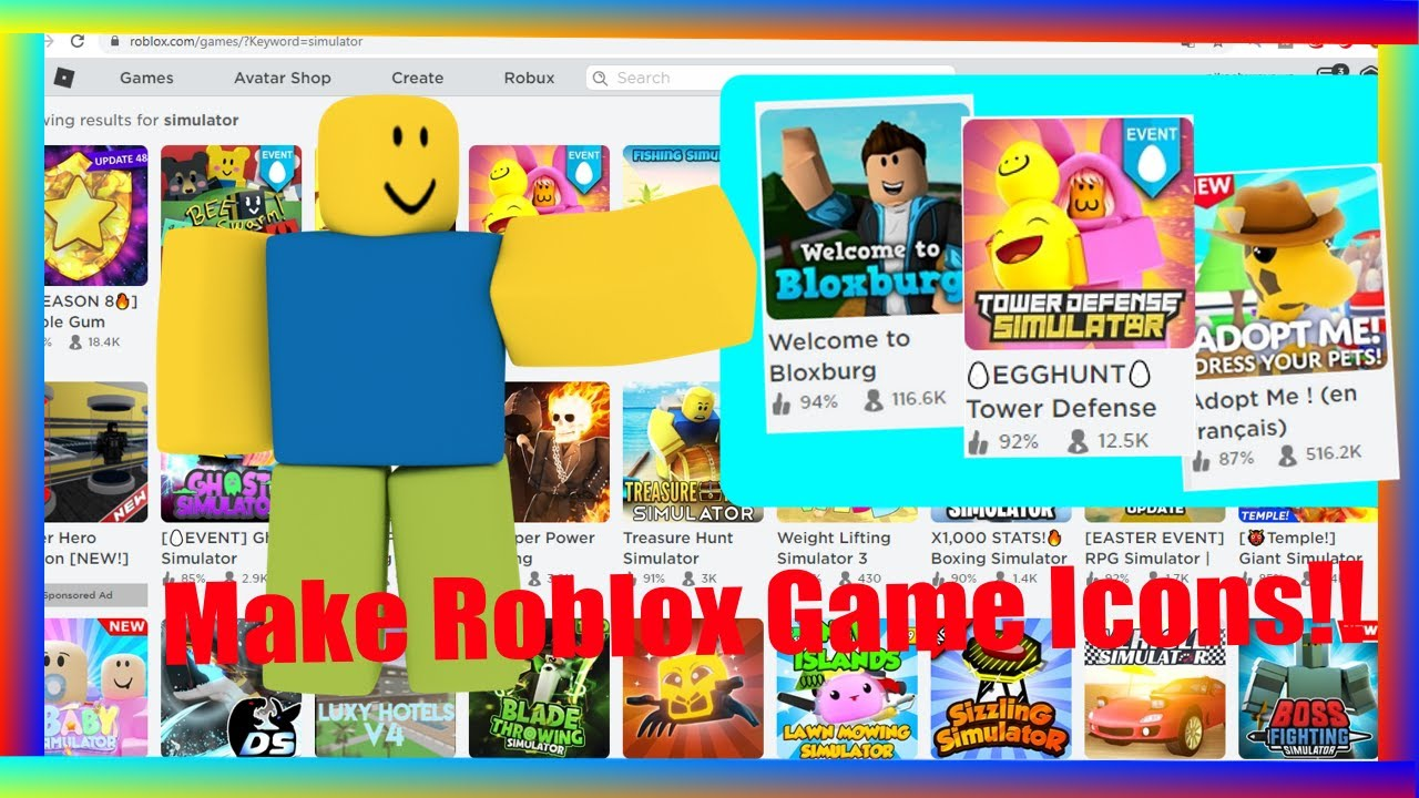 How To Make A Roblox Icon 2020 How To Make Roblox Game Icons And Thumbnails 2020 Youtube