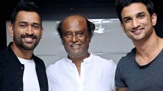 MS Dhoni meets Rajinikanth in Chennai | Sushant Singh Rajput, The Untold Story Movie