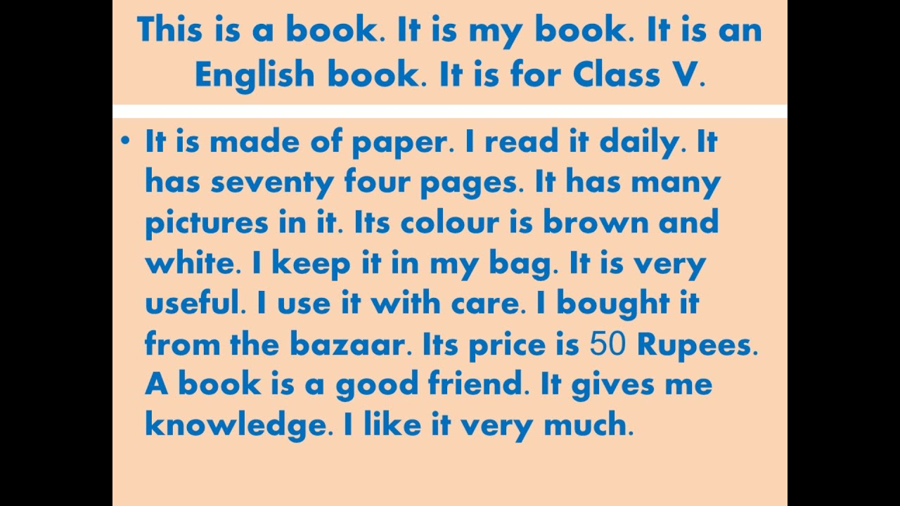 my book essay in simple english  youtube my book essay in simple english