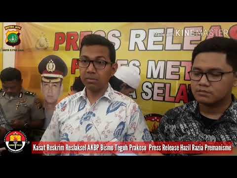 Kasat Reskrim Resjaksel ABP Bismo Teguh Prakoso Perss Release Hasil Razia Premanisme