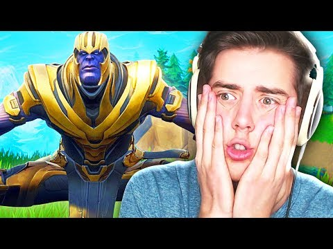 PLAYING AS THANOS IN FORTNITE!!