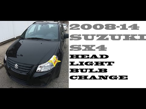 How to replace change Headlight bulbs in Suzuki sx4 2008-2014