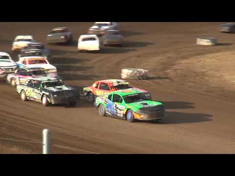 IMCA Stock Car Make Up feature Independence Motor Speedway 7/27/19