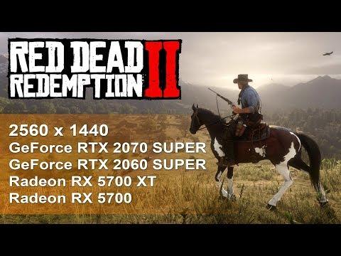 Сравнение RTX 2060 Super, RTX 2070 Super, RX 5700 XT, RX 5700 в Red Dead Redemtion 2