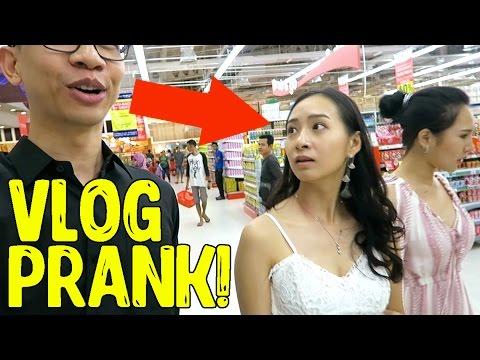 VLOG PRANK!! Vlog Bareng Orang Gak Kenal!! Indonesia Prank Yudist Ardhana.