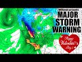 Alert! Danger! MAJOR VDay Storm Warning for California & West Coast!