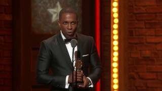 acceptance speech leslie odom jr   best leading actor in a musical 2016