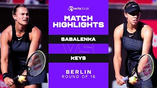 Watch the match highlights from aryna sabalenka vs. madison keys at 2021 bett1open in berlin.subscribe to wta on : http://www./subs...