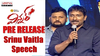 Repeat youtube video Srinu Vaitla Speech    Winner Movie Pre Release Event    Sai Dharam Tej, Rakul Preet   
