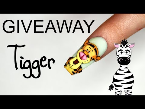 3D Tigger Acrylic Nail Art Tutorial | INTERNATIONAL GIVEAWAY (CLOSED) thumbnail