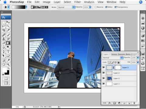 Learn Photoshop - How to Add Line Frames to Photos - YouTube
