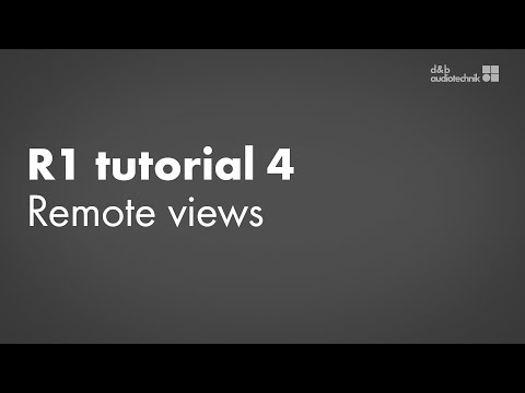 R1 tutorial 4 Remote views