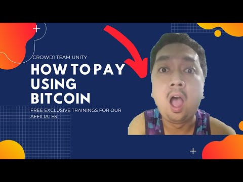 How To Pay Using Bitcoin In Crowd1