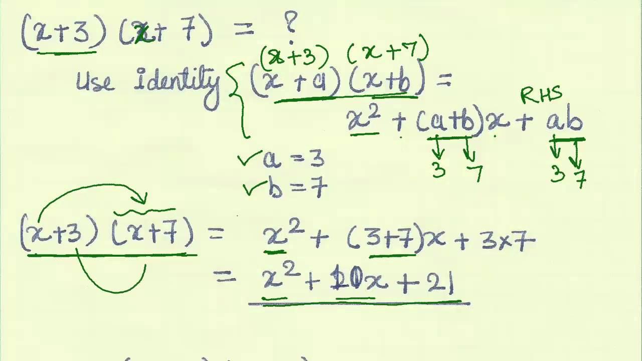 15 Application Of Algebraic Identities Part 2