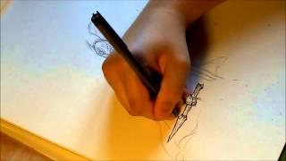Speed painting spirit knight drawing