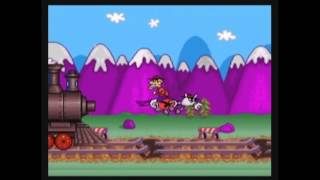 Rocky & Bullwinkle SNES Game Play - Main Game & Mini-Games