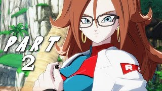 DRAGON BALL FIGHTERZ STORY MODE CAMPAIGN Walkthrough Gameplay Part 2 - Android 21 (DBFZ)