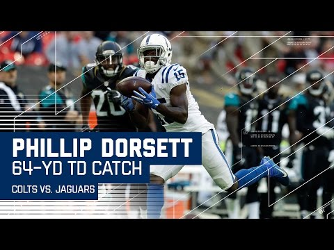 Andrew Luck Finds Phillip Dorsett for 64-Yard TD! | Colts vs. Jaguars | NFL in London