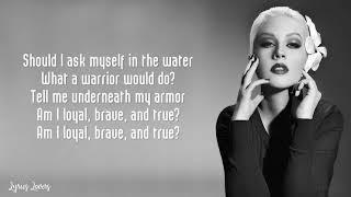 Christina Aguilera - Loyal Brave True LYRICS