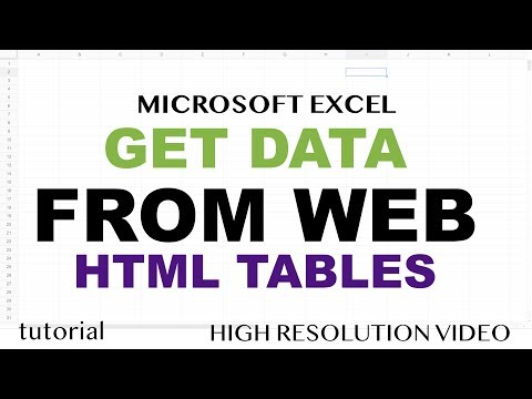 Excel - Get Data From Web - HTML Table - Part 1