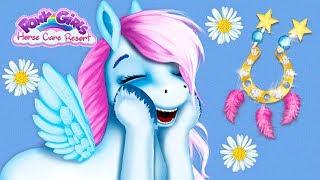 Fun Pony Horse Care - Pony Girls Animal Resort Hair Salon Dress Up