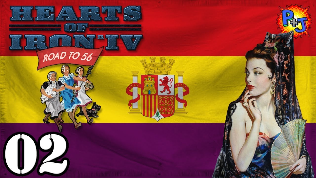 Let's Play Hearts of Iron 4 Democratic Spain | Road to 56
