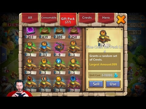 JT's Main Purchasing April GIfts Opening Level 4 FINE Crest Sets + Events Castle Clash