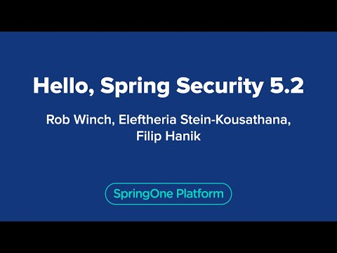 Hello Spring Security 5.2