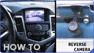 How to Install a REVERSE CAMERA   2012 Chevy Cruze LT