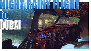 Pilot stories: Boeing 737 night and rainy flight to Dubai