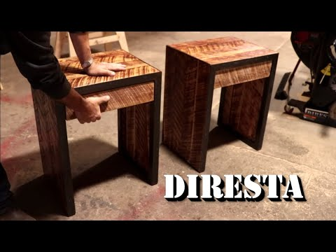 DiResta Steel & Oak End Tables