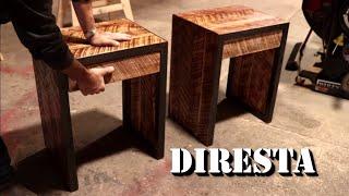 DiResta Steel & Oak End Tables