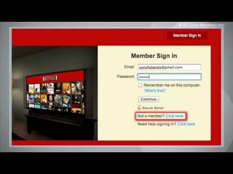Cómo Tener Acceso a Netflix® en su Televisor Sony®