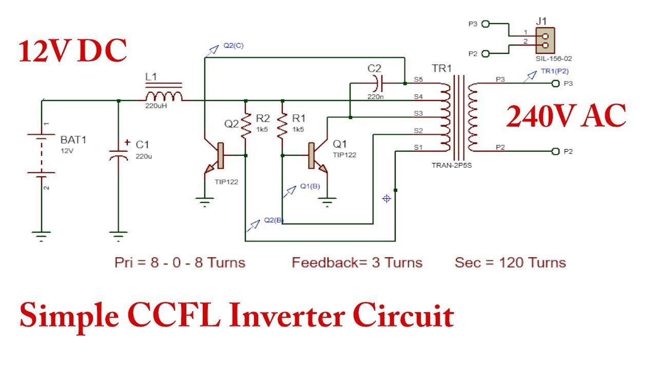 How To Make A 12v To 220v Inverter  Dc To Ac