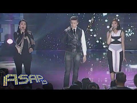 """Sarah,Lea & Bamboo sing """"Love Never Felt So Good"""" on ASAP"""