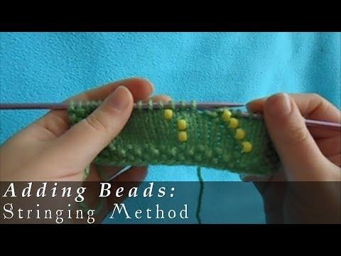 Stringing Beads on Yarn Adding Beads Stringing