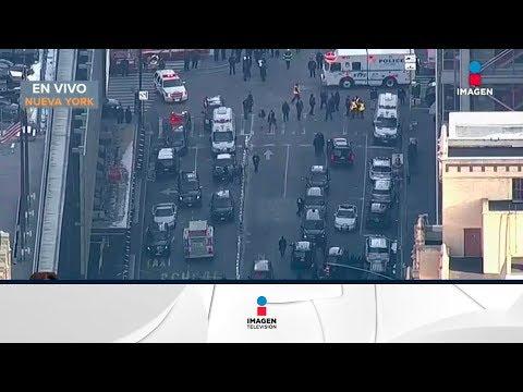 Se registra explosión en el Metro de Manhattan, Nueva York   Noticias con Francisco Zea