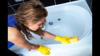 Как удалить плесень в ванной с помощью уксуса...