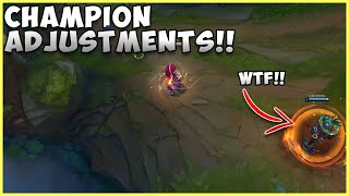 CHAMPION ADJUSTMENTS ANNIE CAN SHIELD ALLIES NOW!!!! LEAGUE OF LEGENDS