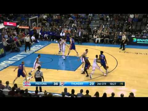 Detroit Pistons vs Oklahoma City Thunder | November 27, 2015 | NBA 2015-16 Season